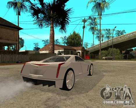 Cadillac Cien para GTA San Andreas traseira esquerda vista
