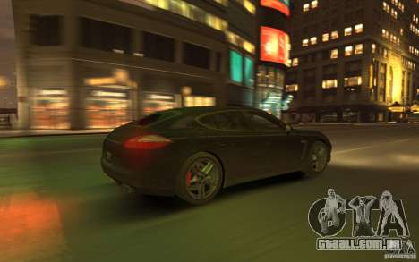 Porsche Panamera Turbo para GTA 4 vista superior