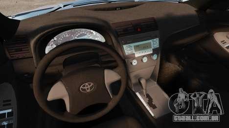 Toyota Camry Altise 2009 para GTA 4 vista superior