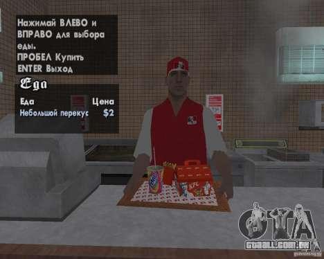 Novas texturas de restaurantes e lojas para GTA San Andreas sétima tela