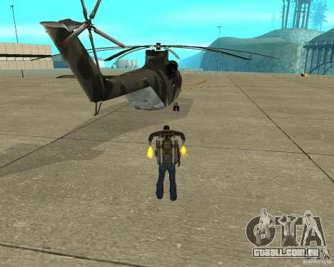MI-26 para GTA San Andreas traseira esquerda vista