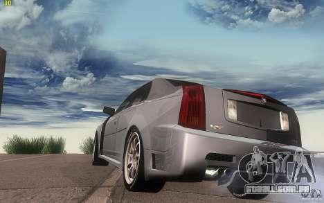 Cadillac CTS-V para GTA San Andreas traseira esquerda vista