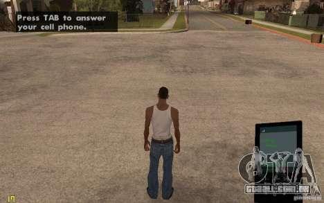 Telefone de GTA IV para GTA San Andreas