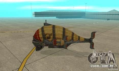Dirigível do TimeShift para GTA San Andreas traseira esquerda vista