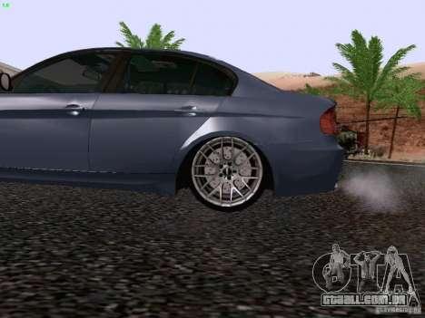 BMW M3 E90 Sedan 2009 para GTA San Andreas vista traseira