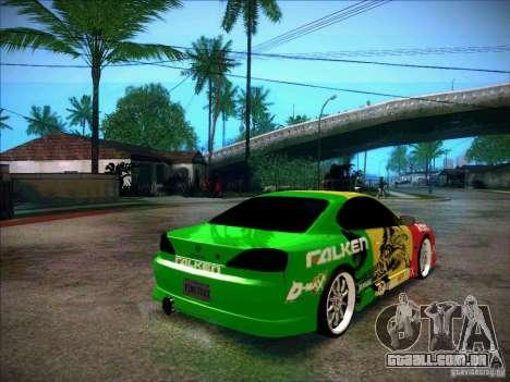 Nissan Silvia S15 BOSO Falken para GTA San Andreas traseira esquerda vista