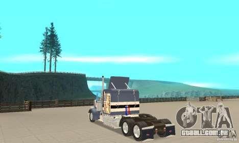 Peterbilt 359 para GTA San Andreas traseira esquerda vista