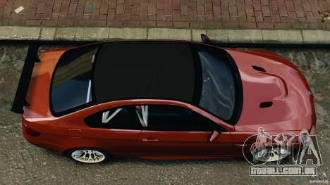 BMW M3 GTS 2010 para GTA 4 vista direita