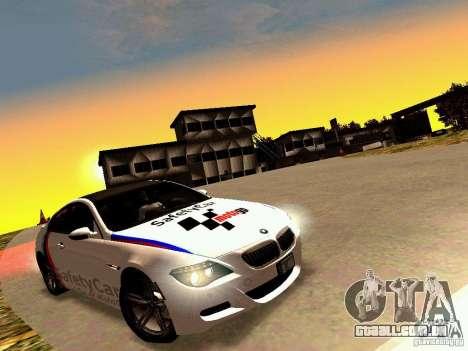 BMW M6 MotoGP SafetyCar para GTA San Andreas vista interior