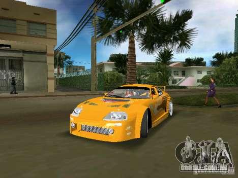 Toyota Supra para GTA Vice City vista traseira