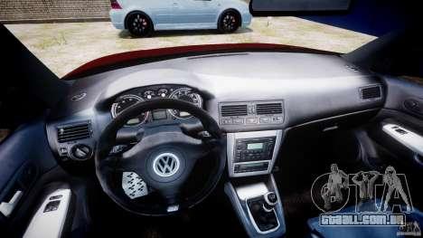 Volkswagen Golf IV R32 v2.0 para GTA 4 vista de volta