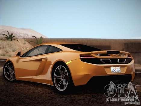 McLaren MP4-12C BETA para GTA San Andreas vista interior
