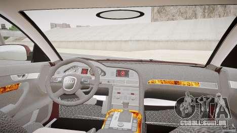 Audi A6 Allroad Quattro 2007 wheel 1 para GTA 4 vista de volta