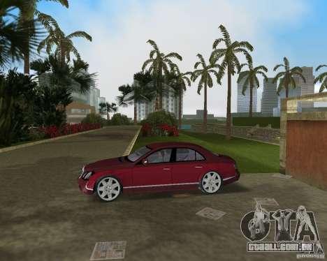 Maybach 57 para GTA Vice City vista traseira esquerda