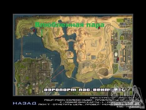 Viagem de carro para GTA San Andreas quinto tela