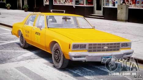 Chevrolet Impala Taxi 1983 [Final] para GTA 4 esquerda vista