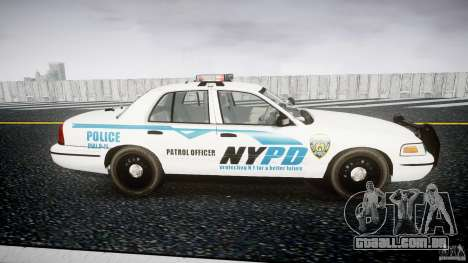 Ford Crown Victoria v2 NYPD [ELS] para GTA 4 vista interior