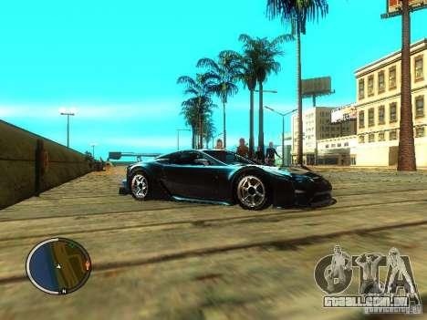 Lexus LFA para GTA San Andreas vista direita