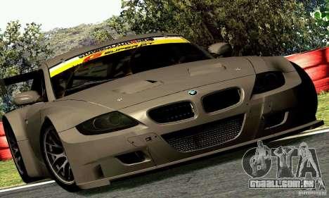 BMW Z4 E85 M GT 2008 V1.0 para GTA San Andreas vista traseira