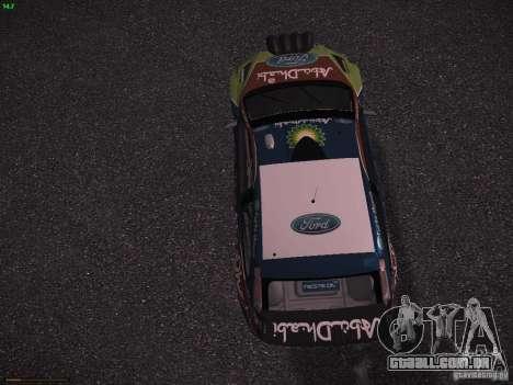 Ford Focus RS WRC 2010 para GTA San Andreas vista interior