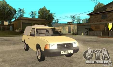 AZLK 2335 para GTA San Andreas vista traseira
