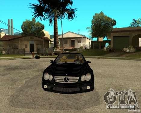 Mercedes Benz AMG SL65 V12 Biturbo para GTA San Andreas vista traseira