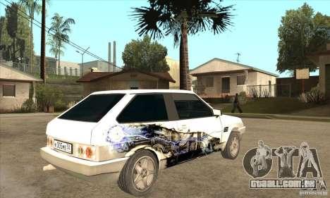 VAZ 2108 sintonizado para GTA San Andreas vista direita