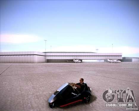 Sinclair C5 para GTA San Andreas vista direita