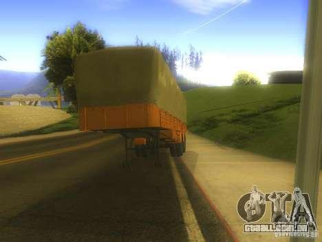 Reboque MAZ 5205 para GTA San Andreas esquerda vista