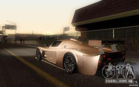 Maserati MC12 GT1 para GTA San Andreas esquerda vista