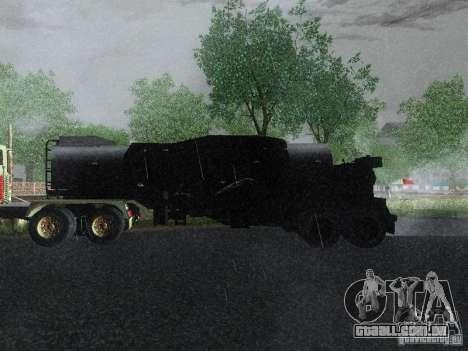 Reboque blindado combustível Mack Truck Titan para GTA San Andreas esquerda vista