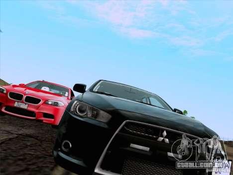 Mitsubishi Lancer Evolution X 2008 para GTA San Andreas vista direita