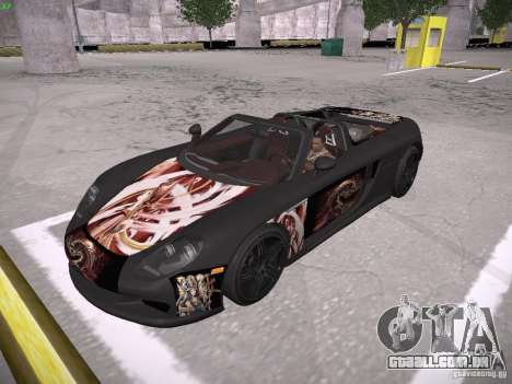 Porsche Carrera GT para GTA San Andreas vista inferior