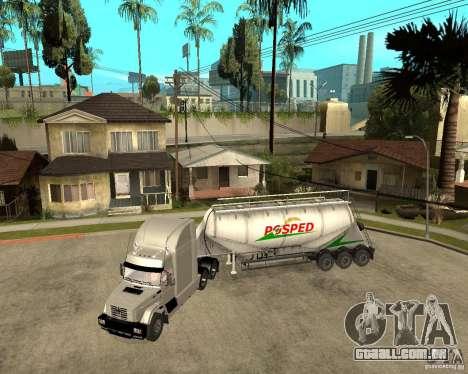 Patch reboque v_1 para GTA San Andreas traseira esquerda vista