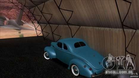 Ford Deluxe Coupe 1940 para GTA San Andreas traseira esquerda vista