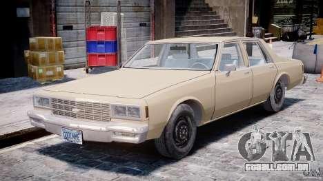 Chevrolet Impala 1983 para GTA 4 esquerda vista