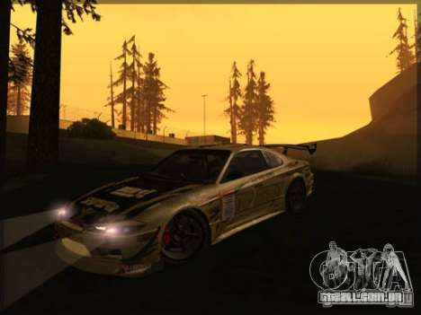 Nissan Silvia S15: Kei Office D1GP para GTA San Andreas esquerda vista