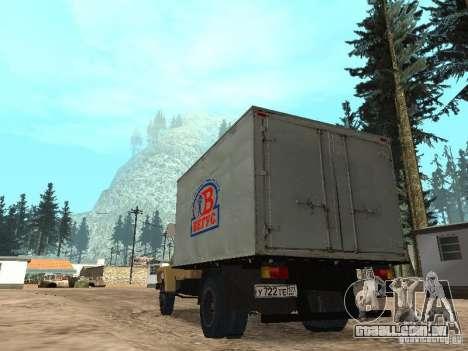 GAZ 3309 CR v2 para GTA San Andreas traseira esquerda vista
