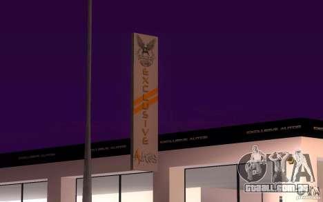 HQ Auto Salon em San Fierro exclusivo Autos para GTA San Andreas segunda tela