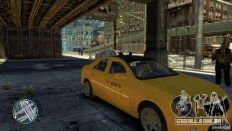 Cadillac CTS-V Taxi para GTA 4 traseira esquerda vista