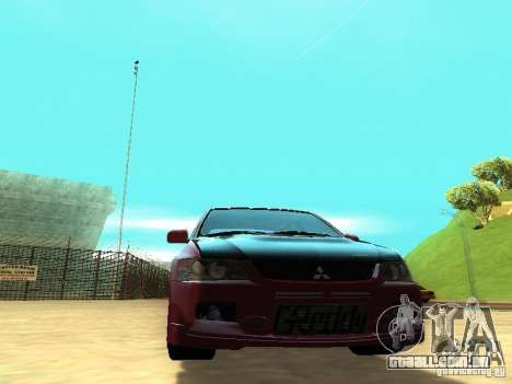 Mitsubishi Lancer IX MR para GTA San Andreas vista traseira