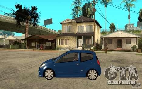Citroen C2 - Stock para GTA San Andreas esquerda vista