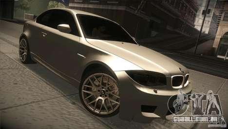 BMW 1M E82 Coupe 2011 V1.0 para GTA San Andreas vista traseira