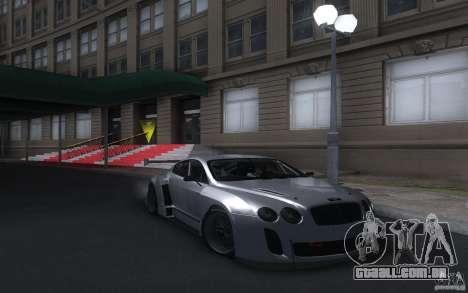Bentley Continental Super Sport Tuning para GTA San Andreas traseira esquerda vista
