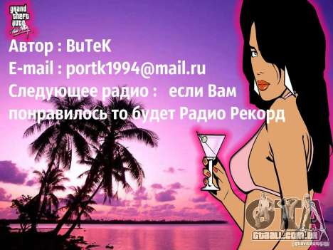 Rádio popsa por BuTeK para GTA Vice City terceira tela