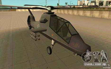Sikorsky RAH-66 Comanche default grey para GTA San Andreas traseira esquerda vista