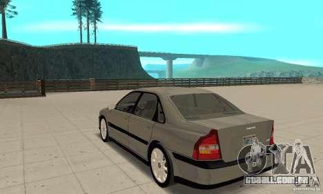 Volvo S80 1999 para GTA San Andreas traseira esquerda vista