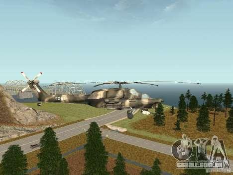 MI 28 HAVOC para GTA San Andreas esquerda vista