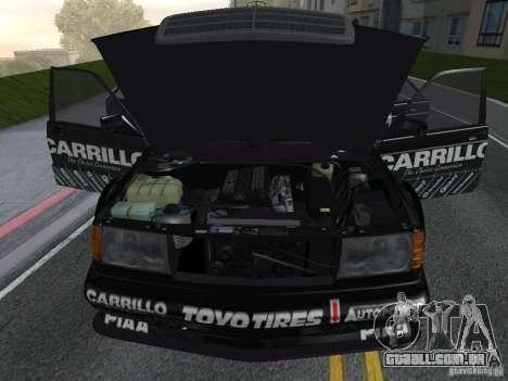 Mercedes-Benz 190E Racing Kit1 para GTA San Andreas vista direita