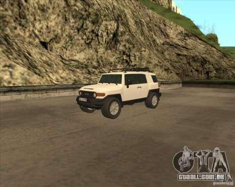 Toyota FJ Cruiser para GTA San Andreas vista inferior